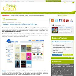 Un moteur de recherche d'eBooks