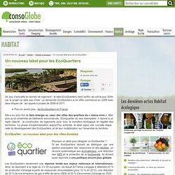 Un nouveau label pour les EcoQuartiers