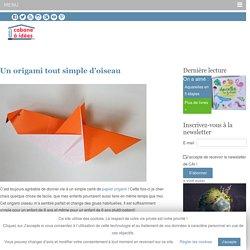 Un origami tout simple d'oiseau