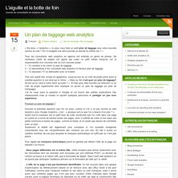 Un plan de taggage web analytics