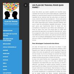 Un plan de travail pour quoi faire ? – PLAN DE TRAVAIL