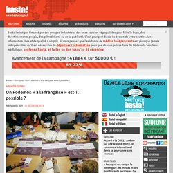 Un Podemos « à la française » est-il possible