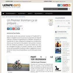Un Premier Ironman ça se prépare…