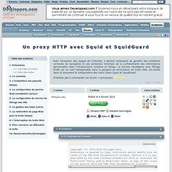 Un proxy HTTP avec Squid et SquidGuard