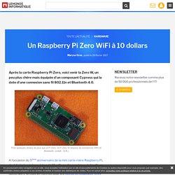 Un Raspberry Pi Zero WiFi à 10 dollars