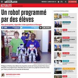 Un robot programmé par des élèves