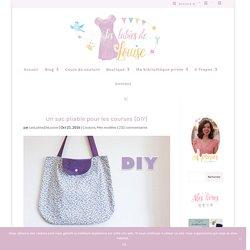Un sac pliable pour les courses {DIY}