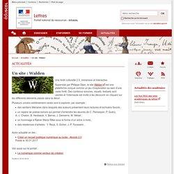 Un site : Walden-Lettres-Éduscol