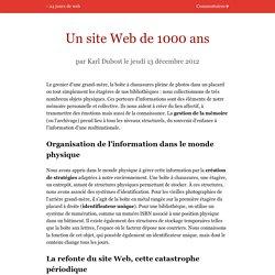 Un site Web de 1000 ans