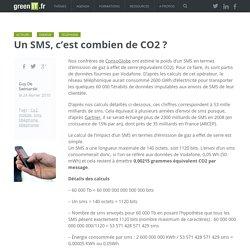 Un SMS, c'est combien de CO2