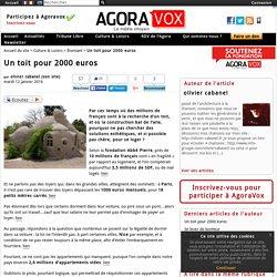 Un toit pour 2000 euros