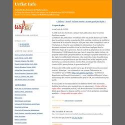 Urfist Info: Un pas de plus