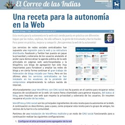 Una Receta Para La Autonomía En La Web
