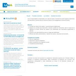 UNA, n° 1 des Services a domicile & Services a la personne