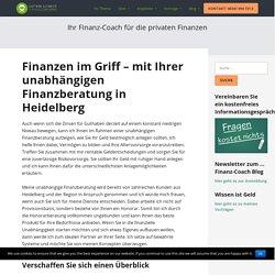 Unabhängige Finanzberatung in Heidelberg