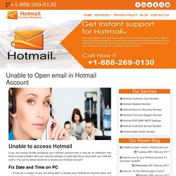 Unable to Open email in Hotmail Account