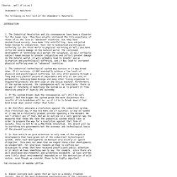 Unabomber Manifesto