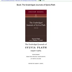 Book: The Unabridged Journals of Sylvia Plath