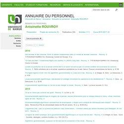 UNamur - Antoinette ROUVROY