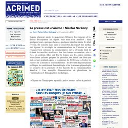 La presse est unanime : Nicolas Sarkozy