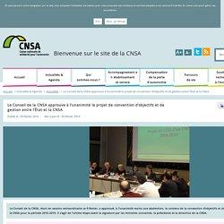 Le Conseil de la CNSA approuve à l'unanimité le projet de convention d'objectifs et de gestion entre l'État et la CNSA