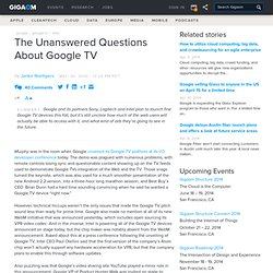 The Unanswered Questions About Google TV