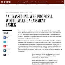 An Unassuming Web Proposal Would Make Harassment Easier