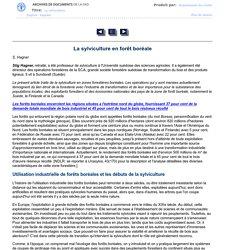 Unasylva - No. 181 - La sylviculture - La sylviculture en forêt boréale