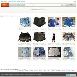 Transaction - Vintage Levi's Denim High Waisted Shorts / Crochet/Lace Pockets / Studded