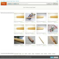 French Rolling Pin Large by WoodElements