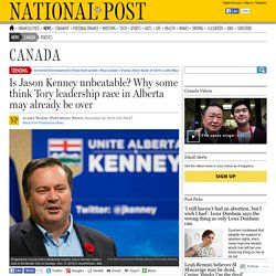 Is Jason Kenney unbeatable? Why some think Tory leadership race in Alberta may already be over