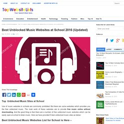 Top 5 Unblocked Music Websites at School