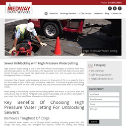 Sewer Unblocking with High Pressure Water Jetting
