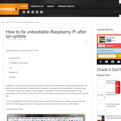 How to fix unbootable Raspberry Pi after rpi-update