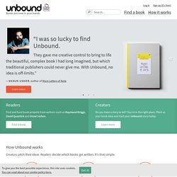 Unbound | books are now in your hands