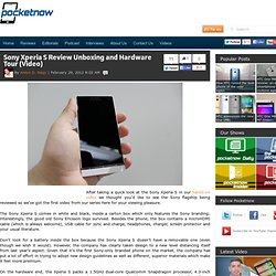 Sony Xperia S Unboxing