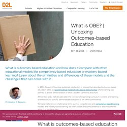 Unboxing Outcomes-based Education (OBE)