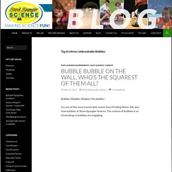 Unbreakable Bubbles Archives - Steve Spangler Science Blog