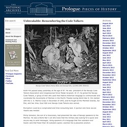 Unbreakable: Remembering the Code Talkers