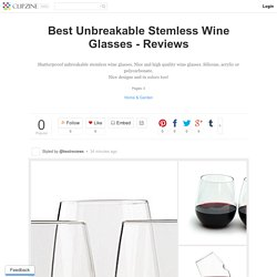 Best Unbreakable Stemless Wine Glasses - Reviews