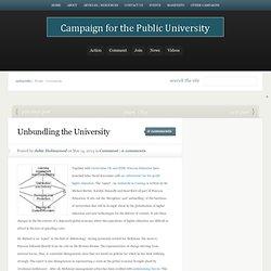 Unbundling the University