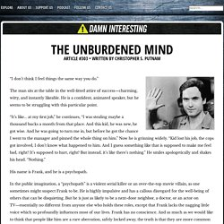 The Unburdened Mind