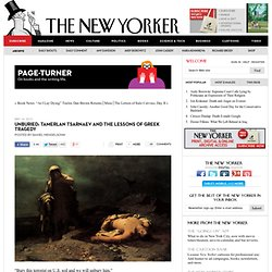 Unburied: Tamerlan Tsarnaev and the Lessons of Greek Tragedy