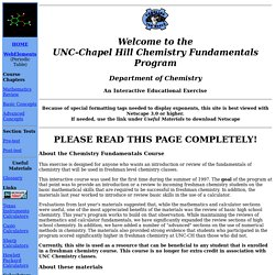 UNC Chemistry Fundamentals