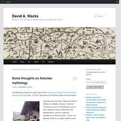 Some thoughts on Asturian mythology