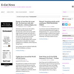 Uncategorized | E-Cat News