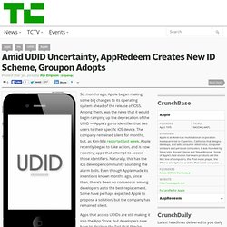 Amid UDID Uncertainty, AppRedeem Creates New ID Scheme, Groupon Adopts