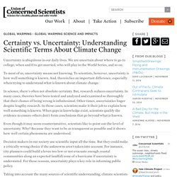Certainty vs. Uncertainty: Understanding Scientific Terms About Climate Change
