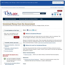 Unclaimed Money from the Government