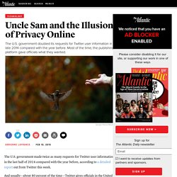 Uncle Sam and the Illusion of Privacy Online